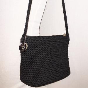 THE SAK Small Black Fabric Shoulder Bag
